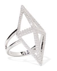 Noir Jewelry | Metallic Sant'angelo Silver-tone Crystal Ring | Lyst