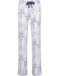 Calvin Klein | Blue Printed Voile Pajama Pants | Lyst