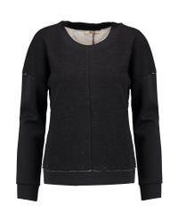 J Brand | Black Montana Satin Scuba-paneled Jersey-knit Top | Lyst