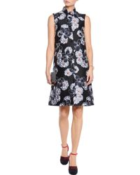 Suno Black Jacquard Dress
