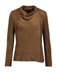 Raoul Brown Skater Faux Suede Jacket