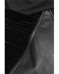 Rick Owens Black Paneled Leather And Wool-blend Jacket