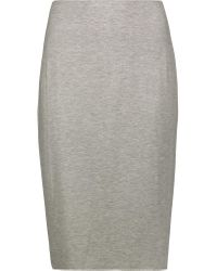 Bailey 44 | Gray Stretch-jersey Skirt | Lyst