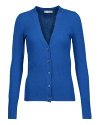 Tory Burch   Blue Lucille Cashmere Cardigan   Lyst