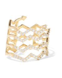 Khai Khai | Metallic Mood 18-karat Gold Diamond Ring | Lyst
