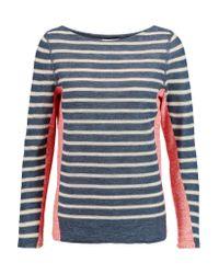 Tory Burch | Blue Galena Striped Linen-blend Sweater | Lyst