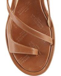 Maison Margiela - Brown Leather Sandal - Lyst
