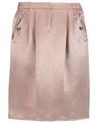 Valentino Multicolor Silk-satin Skirt
