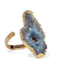 Dara Ettinger - Blue Gold-tone Stone Ring - Lyst