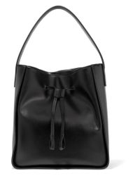 Iris & Ink Black Leather Tote