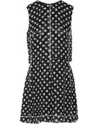 McQ Alexander McQueen Black Polka-dot Chiffon Mini Dress