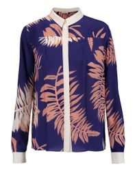 Vionnet | Blue Printed Silk Shirt | Lyst