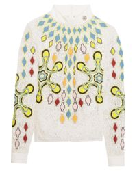 Peter Pilotto Multicolor Solitaire Embroidered Wool-blend Lace Top