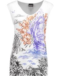 Just Cavalli | Multicolor Printed Stretch-jersey Tank | Lyst