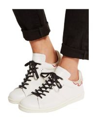 Isabel Marant White Étoile Bart Leather Sneakers