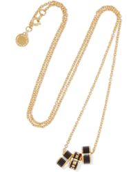 Marc By Marc Jacobs | Black Gold-tone Enamel Necklace | Lyst