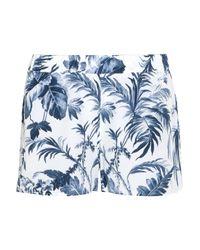 Equipment White Landis Printed Washed-silk Pajama Shorts