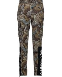 Marc By Marc Jacobs Green Printed Cotton Slim-leg Pants