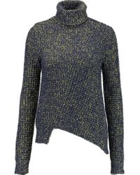 Marc By Marc Jacobs - Blue Waffle-knit Turtleneck Sweater - Lyst