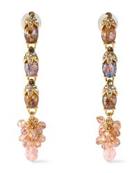 Ben-Amun Metallic Gold-tone, Stone And Crystal Earrings Gold