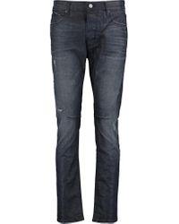 RTA Blue Ryder Distressed Boyfriend Jeans