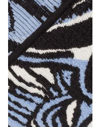 Emilio Pucci - Blue Intarsia-knit Cotton-blend Shorts - Lyst