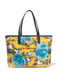 Marc By Marc Jacobs Blue Metropolitote Leather-trimmed Printed Coated-canvas Tote