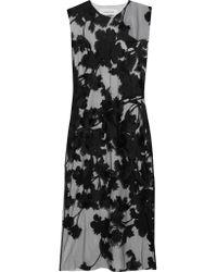 Marques'Almeida | Black Embroidered Tulle Midi Dress | Lyst