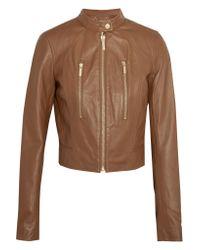 MICHAEL Michael Kors Multicolor Leather Biker Jacket