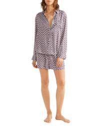 DKNY | Multicolor Printed Satin Pajama Set | Lyst