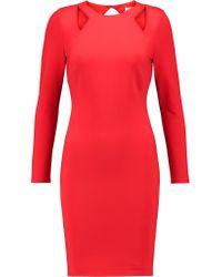 Halston Heritage Red Cutout Ponte Mini Dress