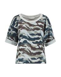 Kain Orli Cotton-blend Jersey Sweatshirt Army Green