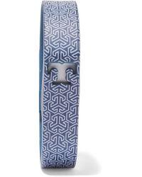 Tory Burch - Blue +fitbit Flex Printed Rubber Bracelet - Lyst