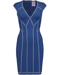 Hervé Léger Bandage Mini Dress Royal Blue