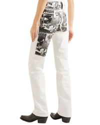 CALVIN KLEIN 205W39NYC + Andy Warhol Foundation Printed High-rise Straight-leg Jeans Off-white