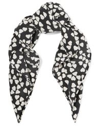 Equipment Black Trudy Printed Washed-silk Scarf