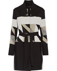 Roland Mouret Black Marah Woven Coat