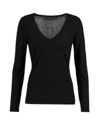 N.Peal Cashmere Black Cashmere Sweater