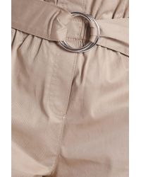 Cinq À Sept - Natural Braxton Ruffle-trimmed Cotton-blend Twill Shorts - Lyst