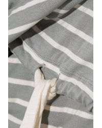 Eberjey - Gray Striped Jersey Pajama Top - Lyst