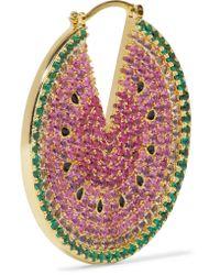 Noir Jewelry | Pink Gold-tone Crystal And Enamel Earrings | Lyst