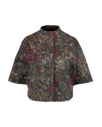 Valentino Multicolor Floral-print Cotton-twill Jacket
