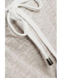 Splendid - Gray Cotton-jersey Track Pants - Lyst