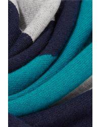 Magaschoni - Blue Color-block Cashmere Scarf - Lyst