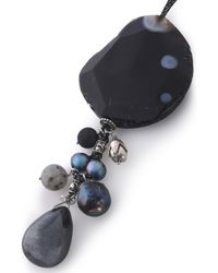 Chan Luu - Black Sterling Silver, Pearl And Stone Necklace - Lyst