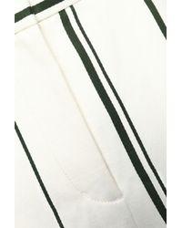 3.1 Phillip Lim White Striped Cotton And Linen-blend Culottes