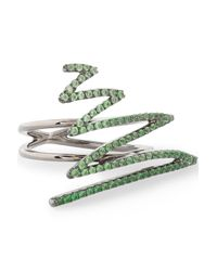 Khai Khai - Green 18-karat Gold Crystal Ring - Lyst