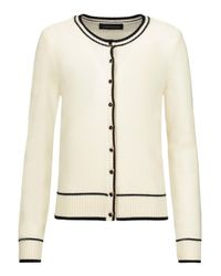 Vanessa Seward White Claude Wool Cardigan