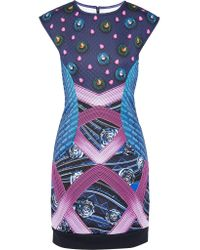 Adidas Originals Blue + Mary Katrantzou Decathlon Neoprene Mini Dress