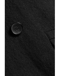 IRO - Black Brannon Linen And Wool-blend Coat - Lyst